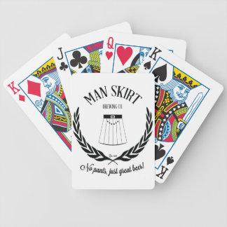 Man Skirt Bicycle Poker Cards
