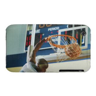 Man slam dunking basketball iPhone 3 case