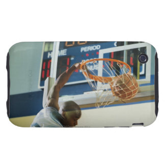 Man slam dunking basketball iPhone 3 tough cover