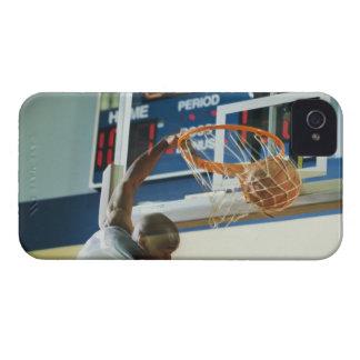 Man slam dunking basketball iPhone 4 Case-Mate case