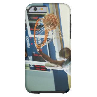 Man slam dunking basketball tough iPhone 6 case