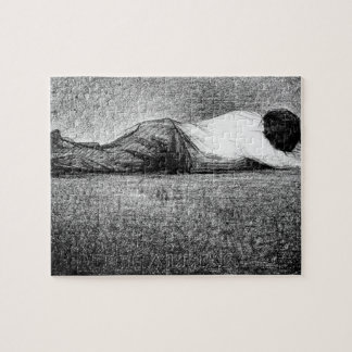 Man sleeping by Georges Seurat Jigsaw Puzzles