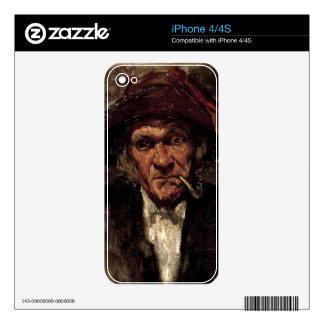 Man smoking a pipe, c.1859 iPhone 4S skin