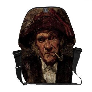 Man smoking a pipe, c.1859 courier bag