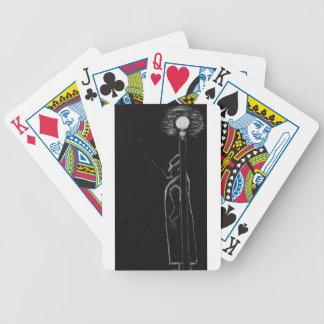 man smoking bicycle playing cards