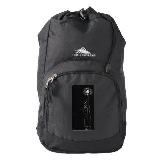 man smoking high sierra backpack