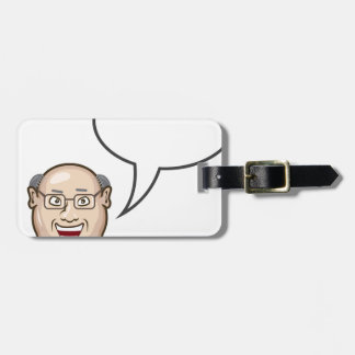 Man speaking Bubble for text Bag Tag