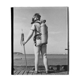 Man Standing on Pier iPad Folio Cover