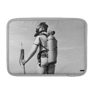 Man Standing on Pier MacBook Air Sleeves