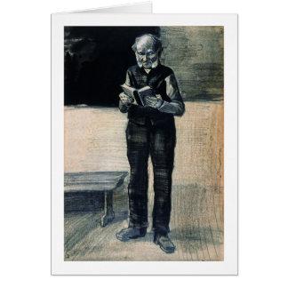 Man Standing Reading a Book, Vincent van Gogh Card