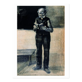 Man Standing Reading a Book, Vincent van Gogh Postcard
