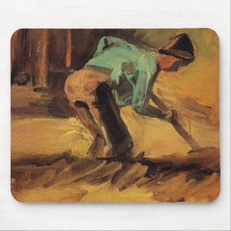 Man Stooping with Stick or Spade by van Gogh Mouse Pad
