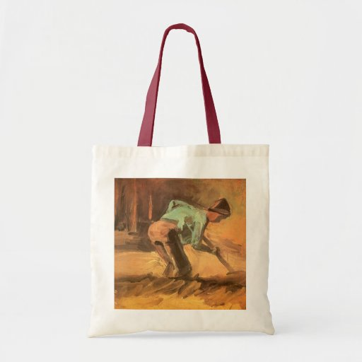 Man Stooping with Stick or Spade; Vincent van Gogh Bags