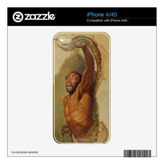 Man Struggling with a Boa Constrictor, Study for ' Decal For iPhone 4