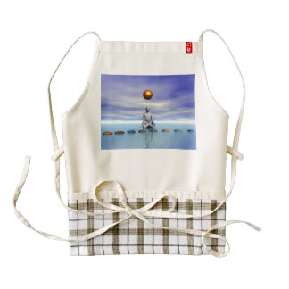 man sun and steps planets zazzle HEART apron