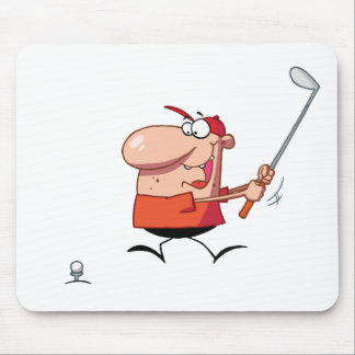 Man-swings-golf-club Mouse Pad