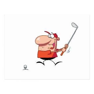 Man-swings-golf-club Postcard