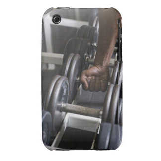 Man taking weight from rack iPhone 3 cover