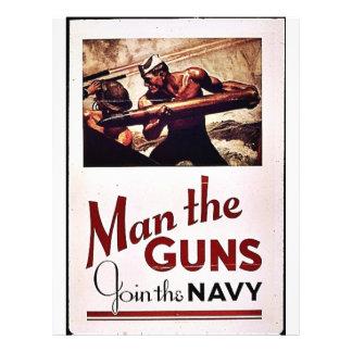 Man The Guns Flyer Design