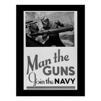 Man the Guns/Join the Navy. 1942_War image Poster