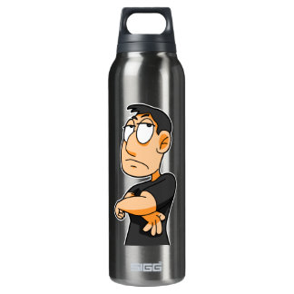 Man Thermos Water Bottle