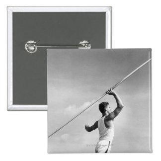 Man Throwing Javelin Button