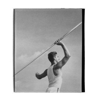 Man Throwing Javelin iPad Folio Cases
