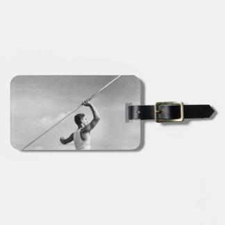 Man Throwing Javelin Luggage Tag