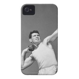 Man Throwing Shotput iPhone 4 Case-Mate Cases