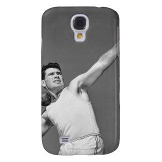 Man Throwing Shotput Galaxy S4 Cases