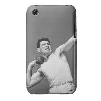 Man Throwing Shotput iPhone 3 Case-Mate Case