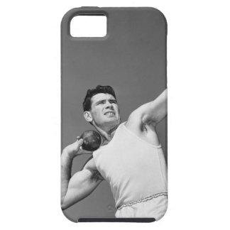 Man Throwing Shotput iPhone 5 Cover