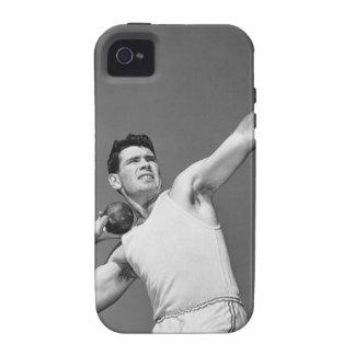 Man Throwing Shotput Vibe iPhone 4 Cover