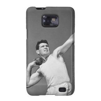 Man Throwing Shotput Samsung Galaxy S2 Case
