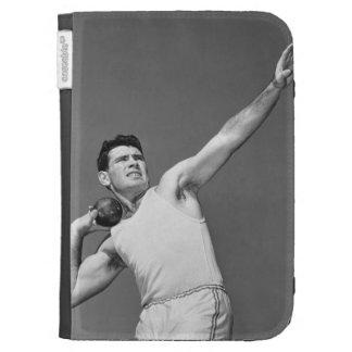Man Throwing Shotput Kindle Cases