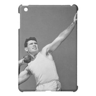 Man Throwing Shotput iPad Mini Cover
