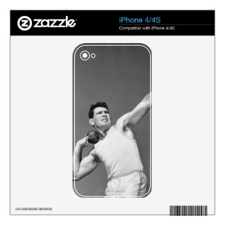 Man Throwing Shotput Decals For The iPhone 4S