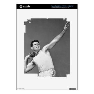 Man Throwing Shotput Skins For iPad 3
