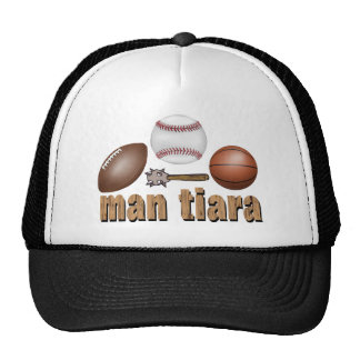 man tiara trucker hat