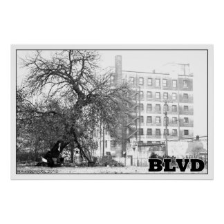 Man Under Tree on MLK Blvd in Detroit Posters