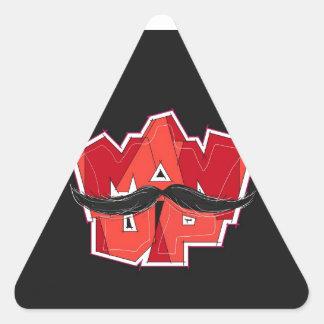man up triangle sticker