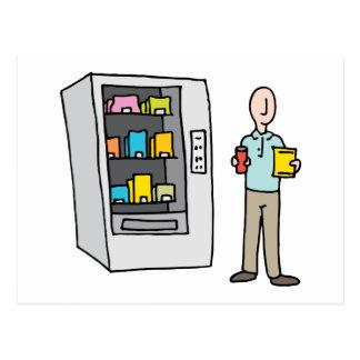 Man Using Vending Machine Postcard