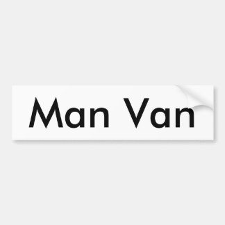 Man Van Bumper Sticker Car Bumper Sticker