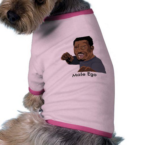 man_vectorized, Male Ego Pet Shirt