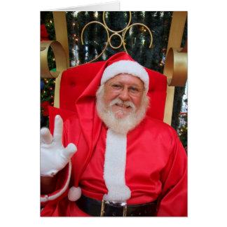 Man verkleed als Kerstman Card