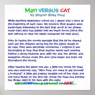 Man Versus Cat by SRF Poster