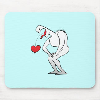 Man Vomiting a Heart Mouse Pad