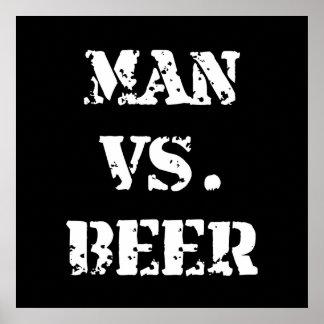 Man Vs Beer Poster