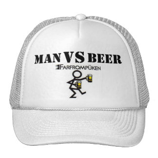 MAN VS BEER TRUCKER HAT