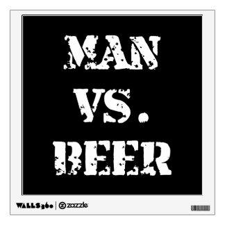 Man Vs Beer Wall Graphic